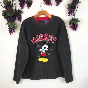 Vintage Disney Store Micky Mouse Fleece Sweater